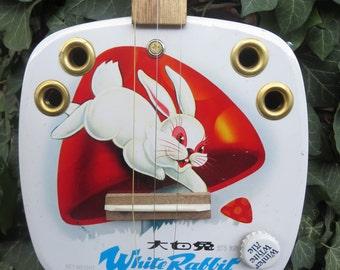 cigar box DULCIMER white rabbit candy tin