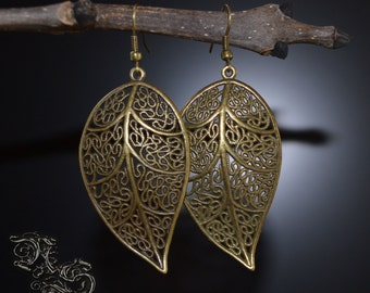 Earrings ''Elven Clarity'' - bronze version