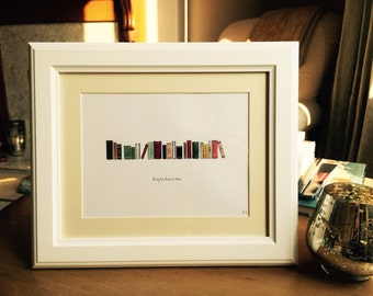 Personalised Favourite Books Painting