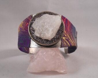 Quartz Bracelet with Tye Dye and Black Glitter #90
