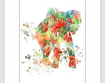 Elephant Art Print, Elephant Decor, Elephant Art, Elephant, Elephant Wall Decor