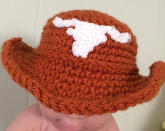 Baby Longhorn Cowboy Hat, Vest and Beanie!