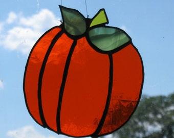 Stained Glass Halloween Pumpkin