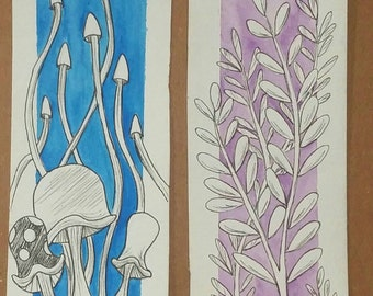 Hand Painted Bookmarks, Watercolor