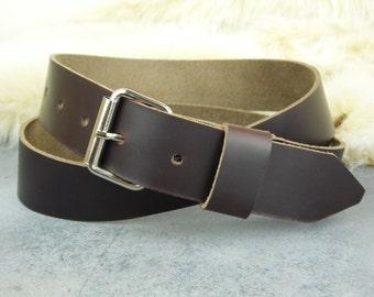 "Mens leather belt, custom sized belt, Horween belt, 1.25"" wide belt, mens leather belt, genuine leather belt, gift for him, mens belt"