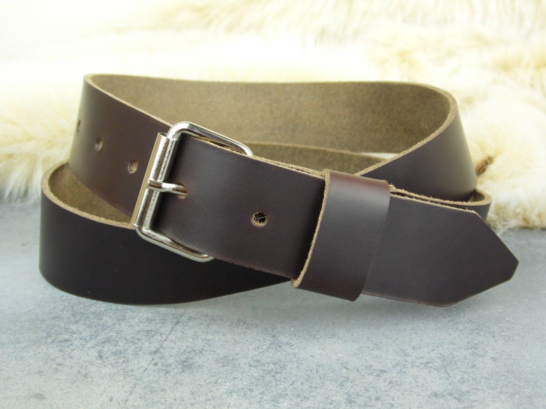 mens leather belt custom sized belt horween belt 1 25