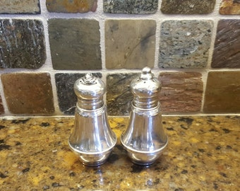 Antique DUCHIN Sterling Weighted Ornate Salt & Pepper Shakers, Set of 2