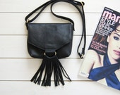 Black Crossbody bag, leather ctossbody bag, small crossbody bag, shoulder bag, womens purse, leather crossbody purse, crossbody bag