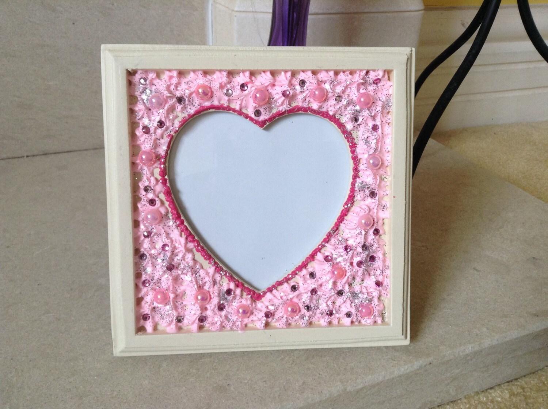 Blinged Heart Shaped Photo Frame