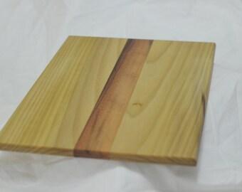 Handmade Solid Wood Serving Board ~ Walnut and Poplar Cutting Board ~ Table Display