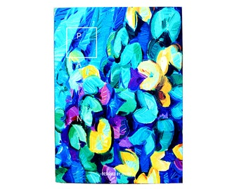 Unique Artsy Journal-Lillies/Impressionism/Nature/Plants/B5/Lined/Softcover/School/Office/Inspirational Large Notebook/Class
