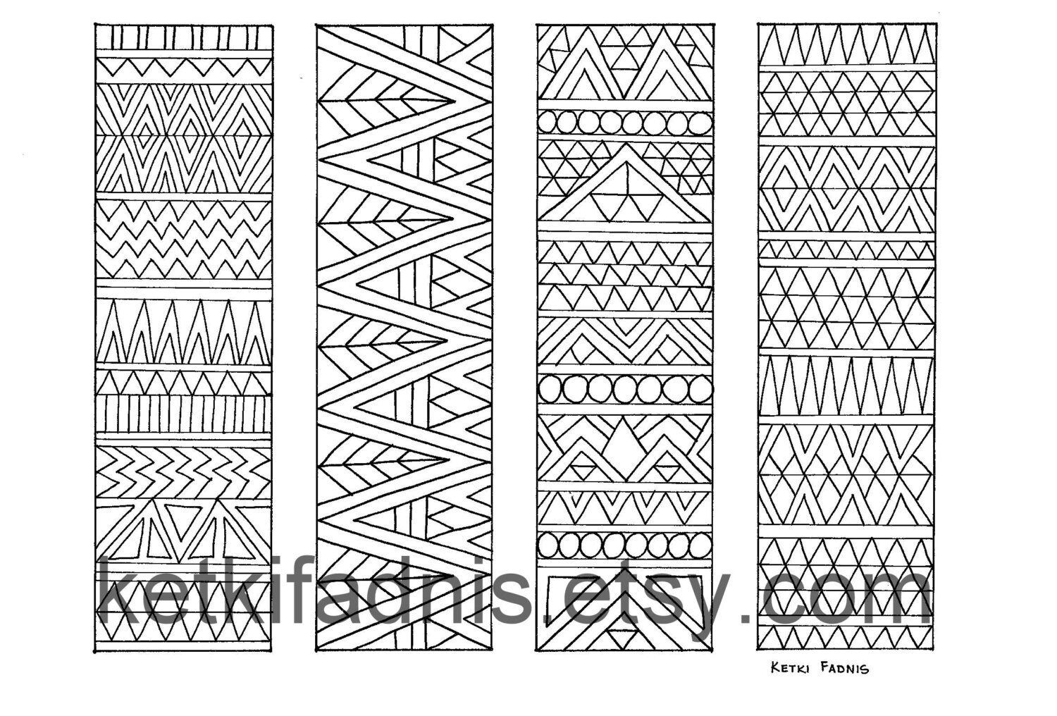 Aztec Coloring Pages Pdf : Coloring bookmarks aztec print page