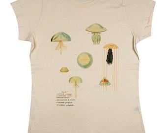 Organic T-shirt with Jellyfish