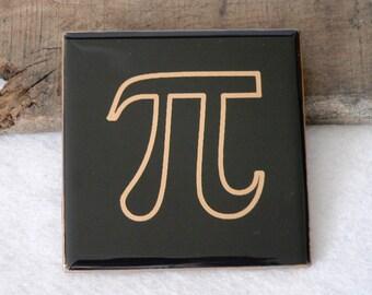 Pi Engraved Ceramic Coaster