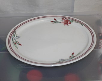 Vintage RECO Copyright E 460- A3 W, This is a Large Plate or it is a Platter, Nice Pattern Flowers Day Lilies, Beautiful Platter, Heavy