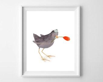 Bird Nursery Art,Boys Nursery Art,Bird Nursery,Bird Girls Nursery,Cute Bird Kids Art,Bird Nursery decor,Bird Nursery Art,Bird Kids Art