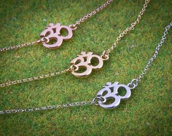 Silver Om Bracelet, Yoga Bracelet, Charm Bracelet, Sterling Silver Bracelet, Gold yoga