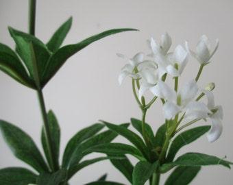 "32"" Stem White Flowers Tall Silk Foliage Flower Stem DIY Silk Floral Supplies Home Decor Supplies #218A"