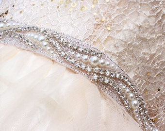 Crystal and pearl belt  Wedding dress belt  wedding sash belt Pearl belt for wedding dress  Bridesmaid belt Bridal belt sash