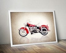 Harley Davidson 1962 FLH Duo Glide photo print,Decor ideas,Wall art,boys room decor,harley davidson decor,motorcycle decor,harley davidson