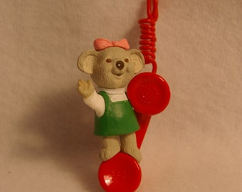 1993 Hallmark Keepsake Christmas Ornament Granddaughter Telephone New