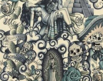 Alexander Henry Contigo in Tattoo Blue