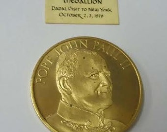 1979 Pope John Paul II Papal Visit to NYC 1979 Commemorative Medallion