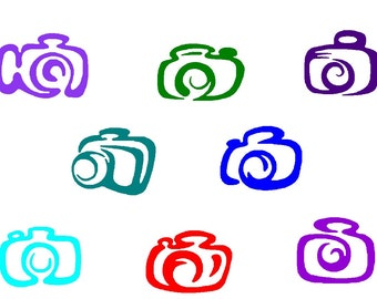 Cameras embroidery design 8 cameras