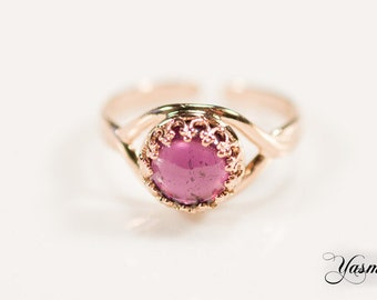 Maharani with Rhodolite rose gold plated