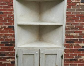 Corner Bookshelf, Shelf, Bookshelf, Cabinet, Buffet, Kitchen, Rustic