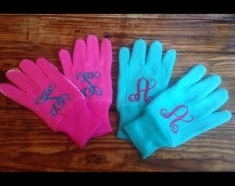 Gardening gloves w/ vinyl monogram