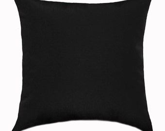 Black Throw Pillow Cover - Solid Black Accent Pillow Cover - Black Pillow - Decorative Pillow - Black Toss Pillow Cover - Solid Black Pillow