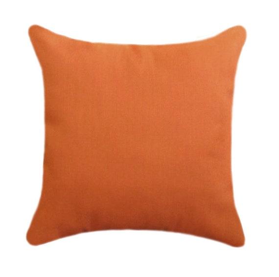Orange OUTDOOR Pillow Cover Solid Orange Throw Pillow