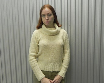 Berries Slouchy Cream Turtleneck Sweater