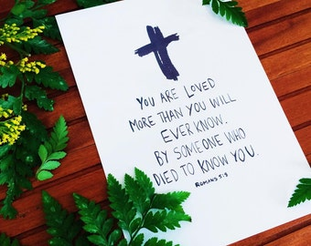 Loved - Fine Art Christian Typography Calligraphy Print