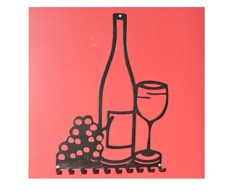 Wine Lovers Wall Mounted Accessory Hanger