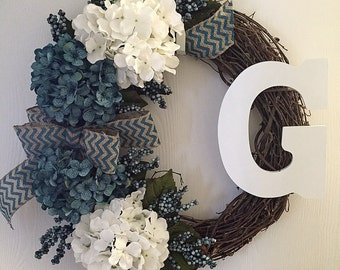Custom Blue Wreath
