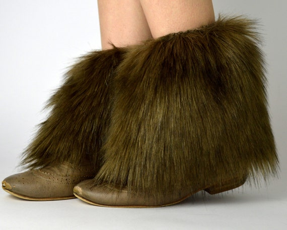 brown fur ankle boot covers free shipping