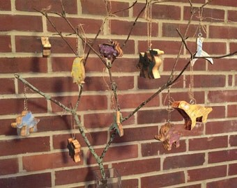 Animal Silhouette Ornaments-Reclaimed Wood
