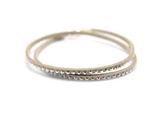 Glitter Bead Bracelet with rivets