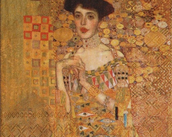 "Decoupage Paper Napkins, gustav klimt,  ""Woman in Gold"" Klimt's Portrait of Adele Bloch-Bauer set of 3 paper napkins, size 33x33cm (no.59)"