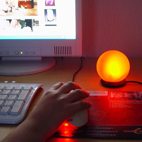 Salt Lamps For Computers : USB Computer GLOBE Mini Himalayan Salt Lamp by WNYLifeCoaching