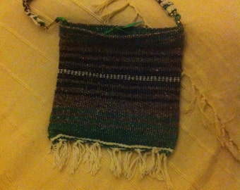 YOURS TRULY woven cross-body bag