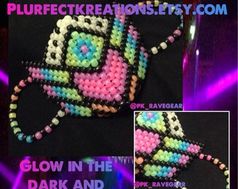 Glow in the Dark !!! Plur Warrior Kandi Mask