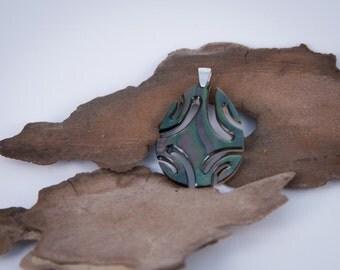 Drop Pearl and Silver Pendant (#NG03)