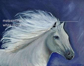 """Print, """"White Horse"""""""