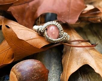 Rhodochrosite & Sterling Silver Ring