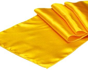 Yellow Satin Table Runner | Wedding Decoration