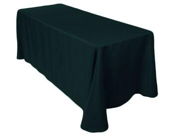 90 x 132 inch Rectangular Hunter Green Tablecloth Polyester | Wedding Tablecloth