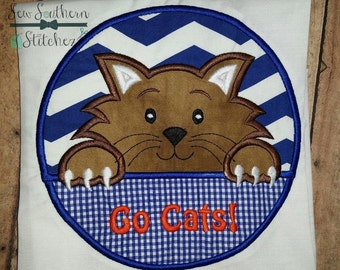 Wildcat Circle Applique ~ Wildcats Mascot ~ Instant Download
